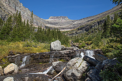 Waterfall on Road to the Sun, Glacier National Park
