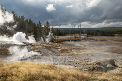 Smouldering landscape, Norris Basin, Yellowstone