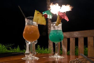 Cocktails on Waikiki Beach, Ohau, Hawaii