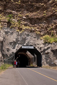 Tunnel entrance to Diamond Head, Ohau, Hawaii