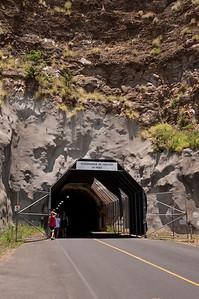 Tunnel entrance to Diamond Head, Ohau, Hawaii