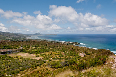 Views to the north from the walk up to Diamond Head, Ohau, Hawaii