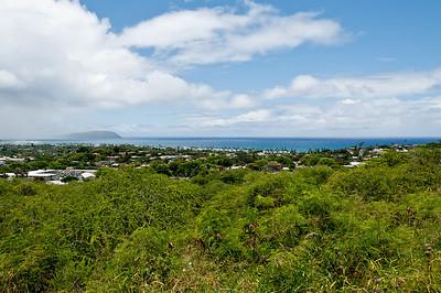 Views from Diamond Head, Ohau, Hawaii