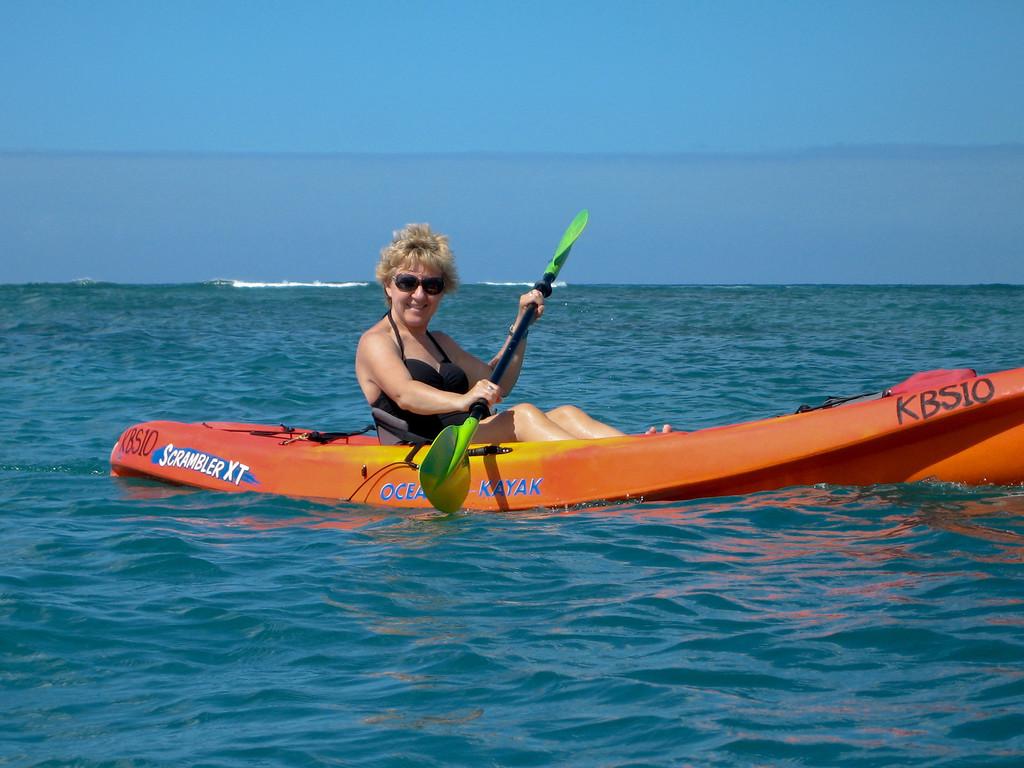 Kayaking on Waikiki Beach, Oahu, Hawaii