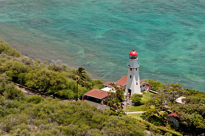 Views from the walk up to Diamond Head, Ohau, Hawaii