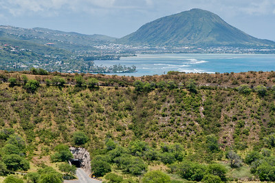 Views to the north from the walk up to Diamond Head, Ohau, Hawaii