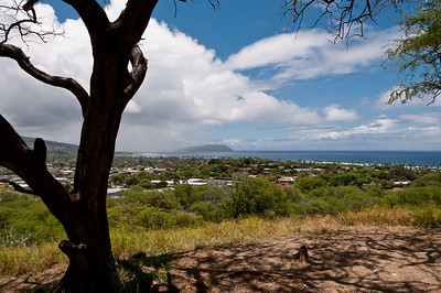 Views from Diamond Head, Ohau, Hawaii