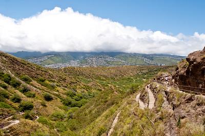 Views from the walk up to Diamond Head, Ohau, Hawaii