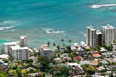 Views from the top of Diamond Head, Ohau, Hawaii