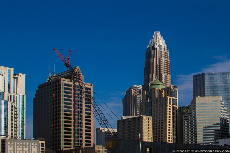 Charlotte on the grow. Construction continues for a new minor league baseball stadium in Uptown.