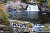 Upper Linville Falls and the Erwin View overlook.