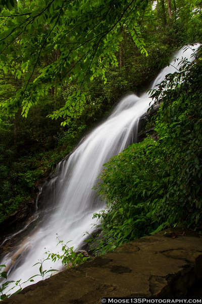 Lower section of the Cascade Falls in E.B. Jeffress Park along the Blue Ridge Parkway