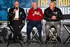 Hall of Fame members Leonard Wood, Bobby Allison, and Ned Jarrett.