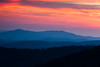 Sunset sky over the Smoky Mountains. Great Smoky Mountains National Park, NC<br /> <br /> NC-120414-0023