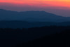 Last light over the Smoky Mountains. Great Smoky Mountains National Park, NC<br /> <br /> NC-120414-0041