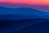 Last light over the Smoky Mountains. Great Smoky Mountains National Park, NC<br /> <br /> NC-120414-0037