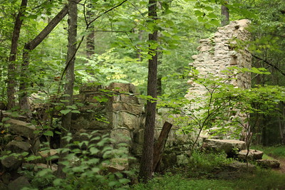 The remains of Robinson Rockhouse in the park.