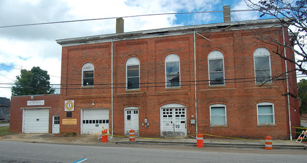 """Plummer Hook & Ladder Company""<br /> 211 S Bragg ST<br /> Warrenton, NC<br /> <br /> Oldest African American fire company in North Carolina (formed in 1868)<br /> <br /> Former Warrenton / Warrenton Rural fire station<br /> <br /> Andrew Messer Photo"