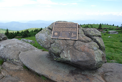 Plaque in honor of Cornelius Rex Peake who farmed the highest peak east of the Rocky Mountians