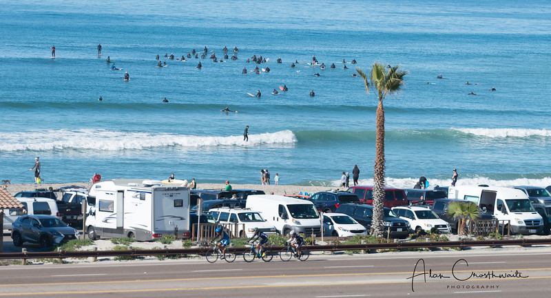 Surfers in Encinitas