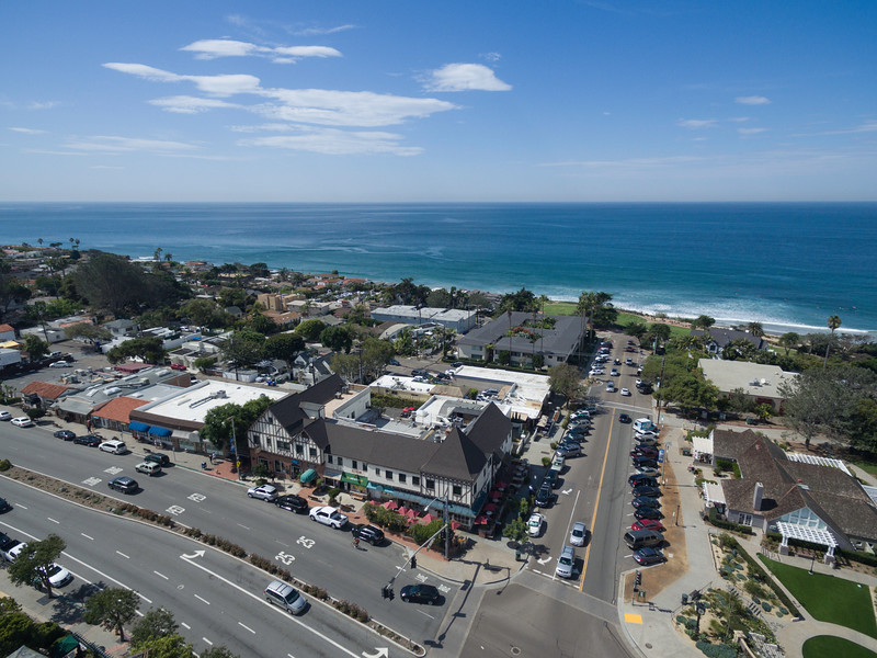 Del Mar aerial of downtown
