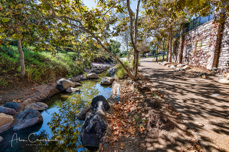 A small stream in Vista, California