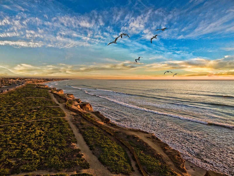 Carlsbad shores at sunset