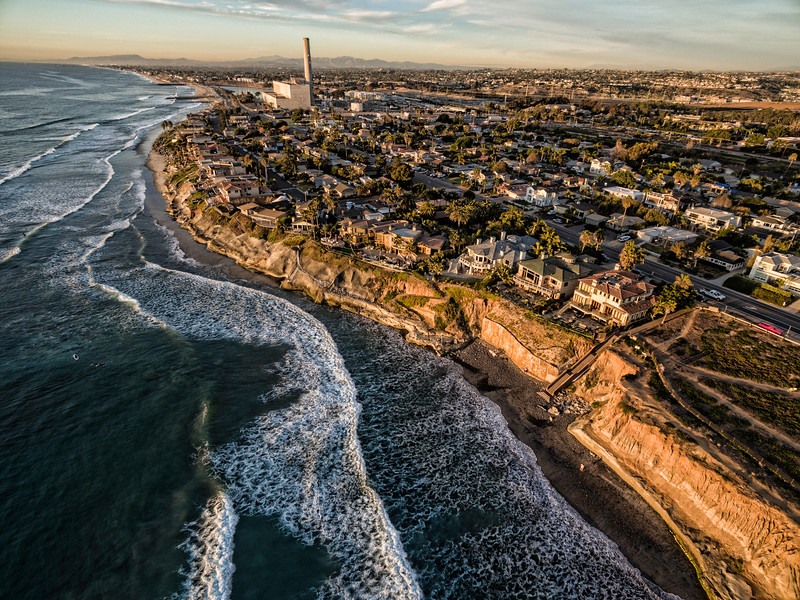 """Carlsbad Shores and the power plant"""