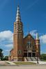 A large historic Catholic Church at Hague, North Dakota, USA.
