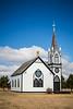 The Hallson Church at the Icelandic Sate Park near Cavalier, North Dakota, USA.