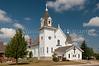 The St. Boniface Catholic church in Walhalla, North Dakota, USA.