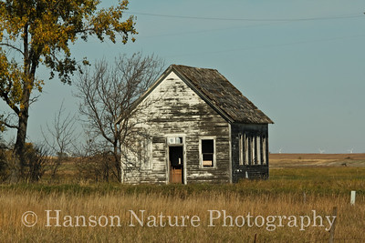 Old Abandoned One Room School House