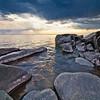 A spring thunderstorm soaks the Lake Superior shoreline for miles around Brighton Beach 3/3.