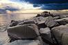 A spring thunderstorm soaks the Lake Superior shoreline for miles around Brighton Beach 2/3.