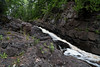 The French River Falls carve their way through the stone walls surrounding this North Shore waterfall.  2/4