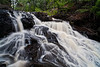 The French River Falls carve their way through the stone walls surrounding this North Shore waterfall.  3/4
