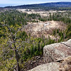 A cliff edge vista overlooking the North Shore of Lake Superior as seen from the Superior Hiking Trail.