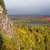 Some fall color can be seen along the North Shore of Lake Superior from the Oberg Mountain loop at the end of September.