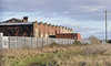 Barrow Town station, Strand Road, Barrow-in-Furness, 2 February 2013 2.  This is the back of the station, showing the bricked up trainshed.  Buccleugh dock is off camera at right.
