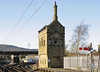 Furness Rly signal boxes, Carnforth, Tues 1 April 2014.  The ornate 1882 box was replaced in 1903 by the box beyond the footbridge, still in use in 2014 and also listed.