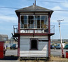 Selside signalbox front, Carnforth, 26 July 2008.  Midland Rly box built in 1907 and listed grade II.