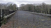 Ingleton Viaduct, 1 February 2013 2.  Looking west.  A community centre has been built on the trackbed towards Clapham, behind the camera.