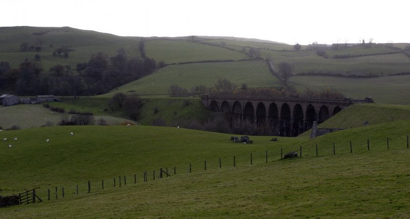 Low Gill Viaduct, 7 November 2008.  Looking south west.
