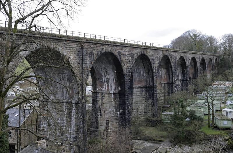 Ingleton Viaduct, 1 February 2013 3.  Looking west.