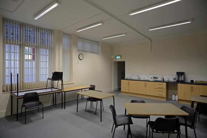Ground floor, Lancaster station, Sat 2 November 2013.  The ground floor offices have been refurbished.