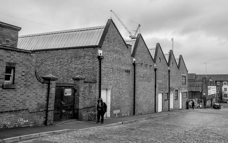 Fetter Street factories from Angel Street,  Northampton