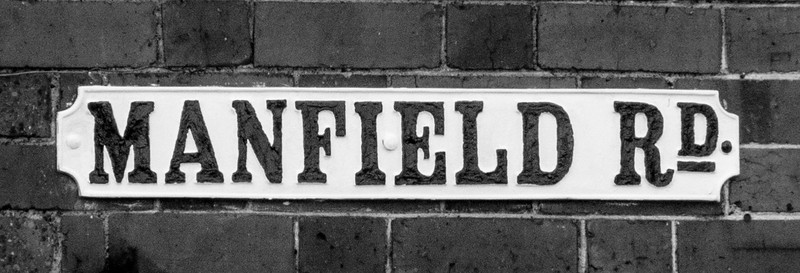 Manfeild Road cast Iron Sigh, Wellingborough Road, Northampton