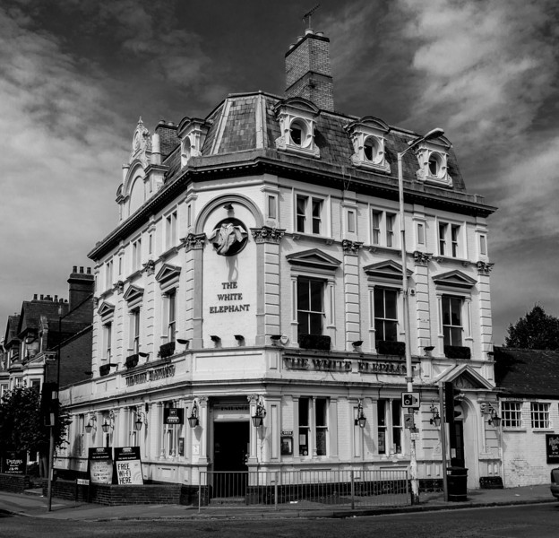 The White Elephant, Northampton<br /> Originally the Kingsley Park Hotel (and much later the Kingsley Park Tavern briefly)<br /> It is called teh White Elephant as it was built to serve the racecourse, which closed just after it was completed.