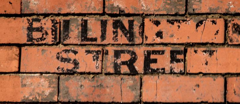 Painted sign, Billington Strret, Northampton