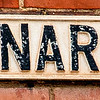 Street sign, St Leonard's Road, Northampton (conventional version)